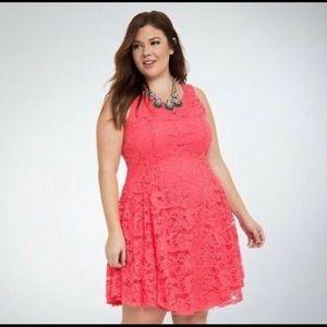 Torrid Lace Fit & Flare Dress